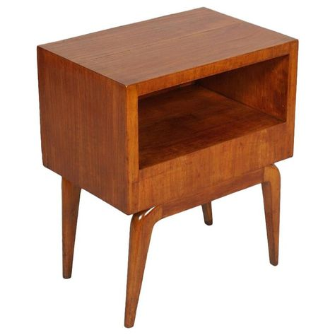 1940s Mid Century Modern Nightstand Bedside Table Cherrywood Gio