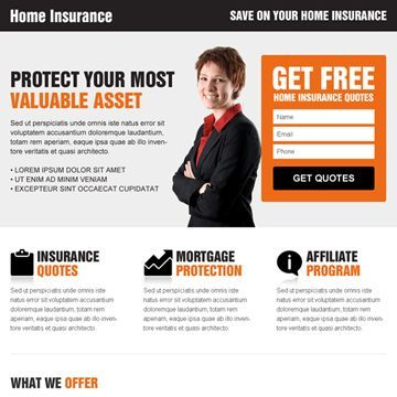 Buy Home Insurance Free Quote Clean Converting And Minimal Landing