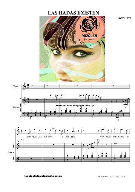 Las Hadas Existen Rozalén Musica Partituras Piano Partituras Partituras