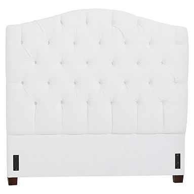eliza tufted headboard queen twill white furniture u003e girls beds mattresses pinterest