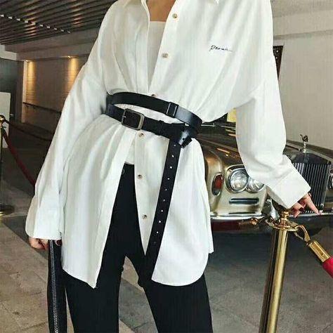 10.5US $ 30% OFF European and American Fashion Genuine Leather Belt Personality Waist Wide Black Belt Tie in Shirt Long Waist Belt Straps american belt belt fbelt fashion - AliExpress
