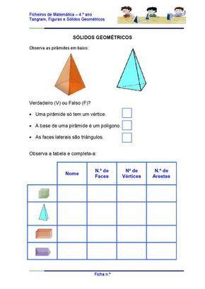 Atividades Com Solidos Geometricos Atividades De Matematica