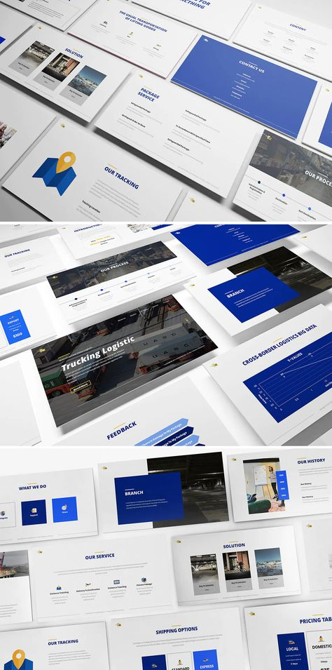 Tracking Logistic PowerPoint Template