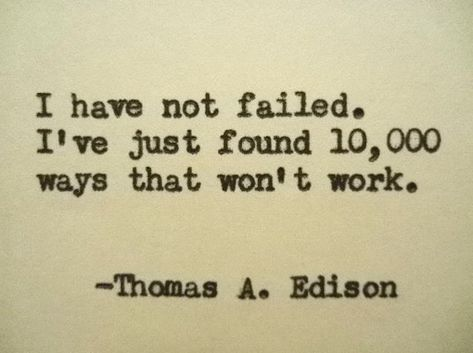 THOMAS EDISON Quote Typed on Typewriter inspirational quote science quote physics quote by PoetryBoutique on Etsy