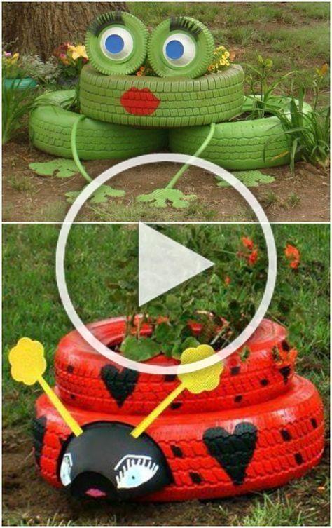 Animal Tire Planter Garden Art 20 Fab Diy Ideas To Repurpose