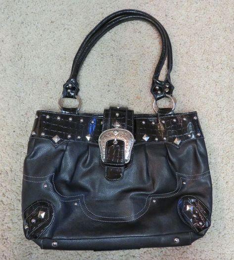 Ad Ebay Lou Ella Black Purse Handbag