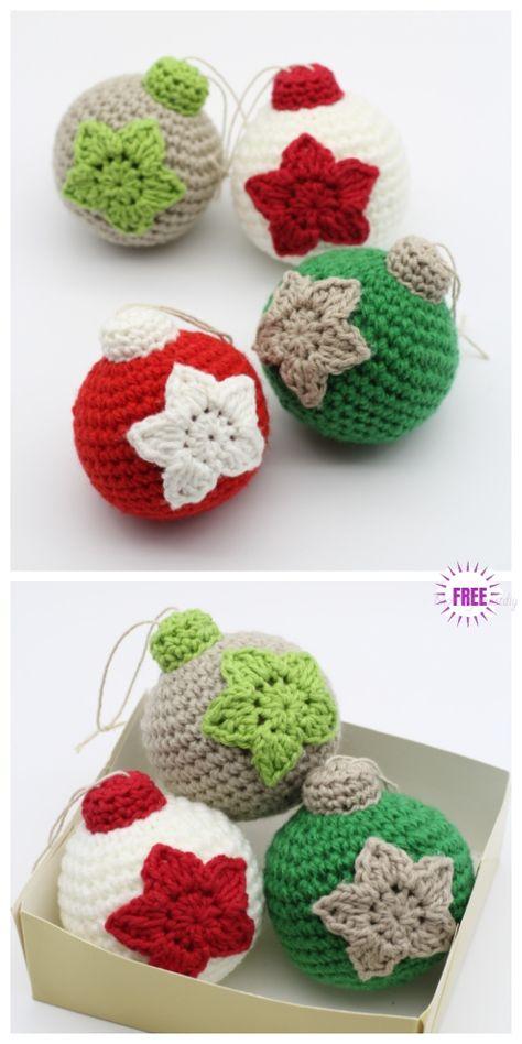 Crochet Christmas Bauble Ornament Free Crochet Patterns