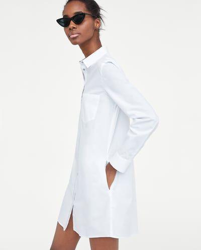 Vestido Camisero Cinta Ver Todo Vestidos Mujer Zara España Vestido Camisero Blanco Vestido Blanco Mujer Camisas Largas Mujer