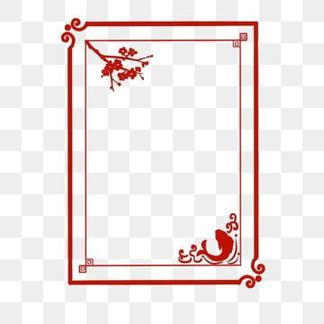 Classical Chinese Style New Year Border Red Classical Window Border Beautiful Chinese Wind Window Chinese Wind Doors And Windows Chinese Window Classical Flow Flower Window Clip Art Borders Prints For Sale