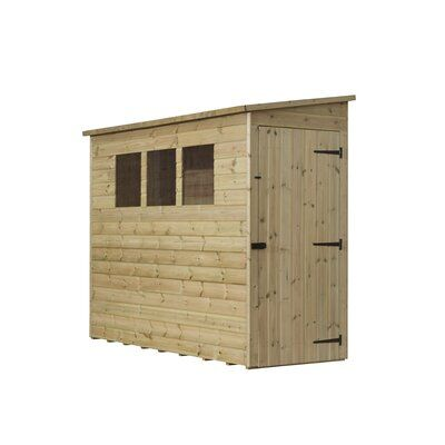 Wfx Utility 3 Ft W X 7 Ft D Shiplap Pent Wooden Shed Wayfair Co Uk In 2020 Roof Cladding Wooden Sheds Garden Shed