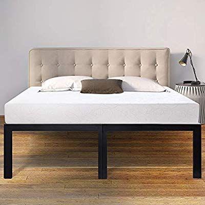 Sleeplace 18 Inch High Profile Heavy Duty Steel Slat Basic Home Furniture Unique Design Mattress Foundation Bed F Tall Bed Frame Bed Frame Adjustable Bed Frame King bed frame for sale