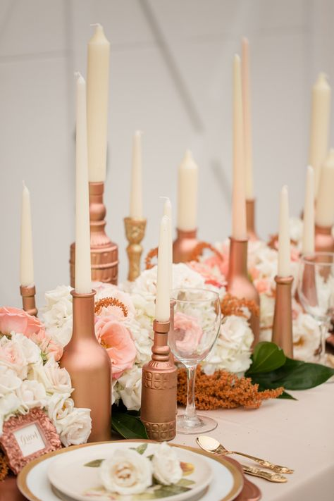 Rose Gold Wedding Ideas Wedding Centerpieces Gold Wedding