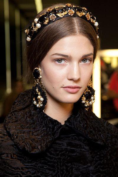 Dolce & Gabbana at Milan Fashion Week Fall 2012 - Backstage Runway Photos