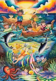 Hasil Gambar Untuk Kreasi Mewarnai Langit Oil Pastel For Kids In