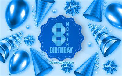 Descargar Fondos De Pantalla Felices 8 Meses De Cumpleanos Tarjeta De Felicitacion De 8 Meses Hijo De Cumpleanos Bebe Azul De Cumpleanos De Fondo De 8 Meses Tarjeta De Felicitacion Mesa De Cumpleanos Cumpleanos