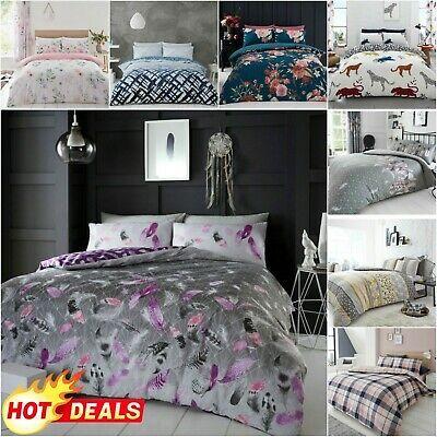 King Size Floral Bed Set Duvet Cover Pillow Case Soft Reversible Quilt Bedding Duvet Cover Sets Home Goods Bedding Set