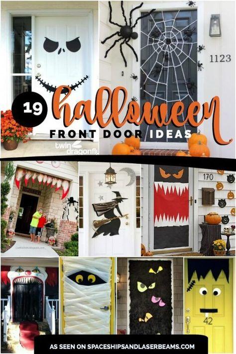 Halloween Front Door Decorations Halloween Pinterest Halloween