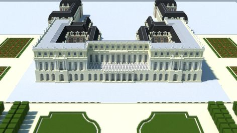 Château De Versailles 1670 Minecraft Project Minecraft City French Castles Architecture Old