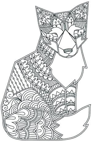 Cute Fox Coloring Pages Fox Coloring Page Animal Drawings Zoo Animal Coloring Pages