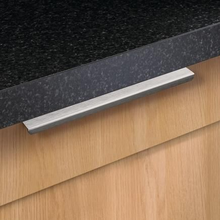 brushed steel effect slimline profile bar handle kitchen handles howdens joinery home kitchen ideas pinterest kitchen handles joinery and su2026