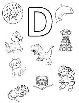 Letter D Coloring Page Alphabet Activities Preschool Preschool Letters Alphabet Preschool