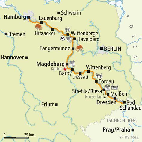 Elberadweg Karte In 2020 Elberadweg Radwege Radtouren