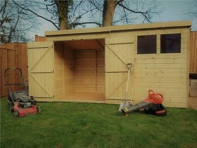 Wooden Garden Shed 10x5 12x5 14x5 Pressure Treated Tongue And Groove Pent Shed Shed Garden Shed Wooden Garden