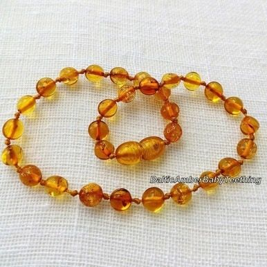 """3b29318fd3204 Baby honey"""" amber teething necklace 