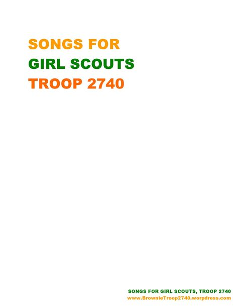 GIRL SCOUT SONG LYRIC BINDER COVER AND EDGE_Page_1 - more info here: http://brownietroop2740.wordpress.com/girl-scouts-songs-troop-2740/