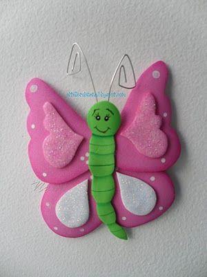 Mariposas Goma Eva. Troqueles Mariposas Caladas De Goma Eva Con ...