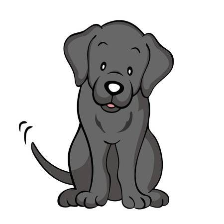 123rf Millions Of Creative Stock Photos Vectors Videos And Music Files For Your Inspiration And Projec Black Labrador Dog Dog Animation Cartoon Dog Drawing