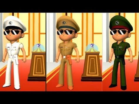 Little Singham 3d Run London Android Army Vs Navy Vs Police Youtube London Android Game