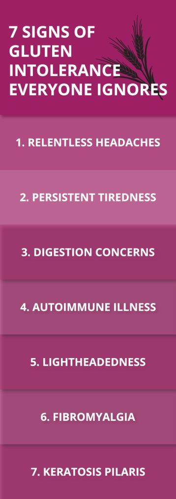 7 Signs Of Gluten Intolerance That Everyone Ignores Signs Of Gluten Intolerance Gluten Intolerance Healthy Living Motivation