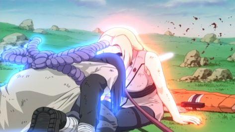تسونادي تضحي من اجل ناروتو ناروتو و تسوناداي و جيرايا ضد اوروتشيمارو Anime Art