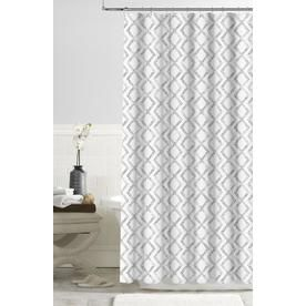 Colordrift Gray Geometric Shower Curtain With Images Geometric
