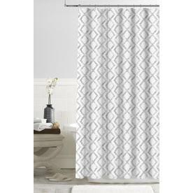 Colordrift Gray Geometric Shower Curtain Geometric Shower