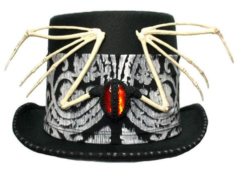 Mens Ladies Victorian Black Top Hat Velvet Steampunk Fancy Dress Costume NEW