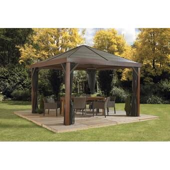Palram Milano 10 Ft W X 10 Ft D Aluminum Patio Gazebo Reviews Wayfair Patio Gazebo Pergola Patio Pergola