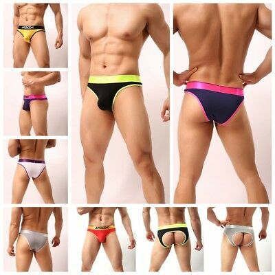 Men/'s Bulge Pouch Underwear Boxer Shorts Backless Briefs Thongs Underpants M-XL