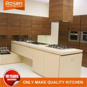 China Customized Oak Wood Veneer Kitchen Cabinets Manufacturers