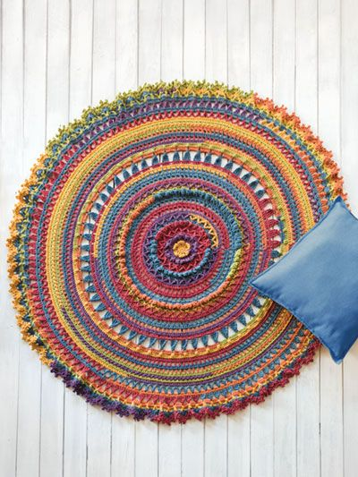 A Wheel Of Color Made Using 4 Cakes Of Plymouth Yarn Hot Cakes