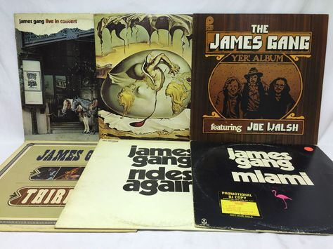 James Gang Lot Of 6 Vinyl Records Live Newborn Thirds Rides Again