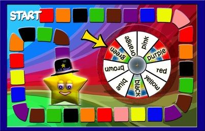 A file-folder learning colors game board. | You\'ve Got Class {PE1 ...