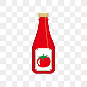 Bottle Of Tomato Ketchup Vector Illustration With Flat Design Tomato Ketchup Bottle Png And Vector With Transparent Background For Free Download Flat Design Vector Illustration Design