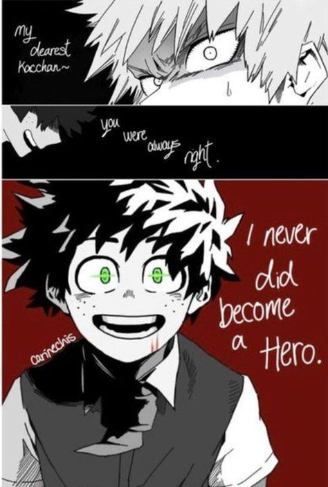 FacesAreViolet This was all I could find of Bakugou x villian Deku