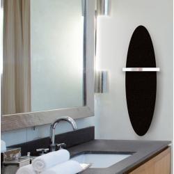 Design Elektro Flachheizkorper Aus Schwarzem Stahl Kiewviadurini De Ovaler Badezimmerspiegel Design Heizkorper Und Stahl