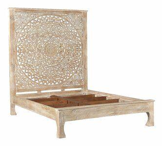 Mistana Alia Carved Queen Panel Bed | Wayfair
