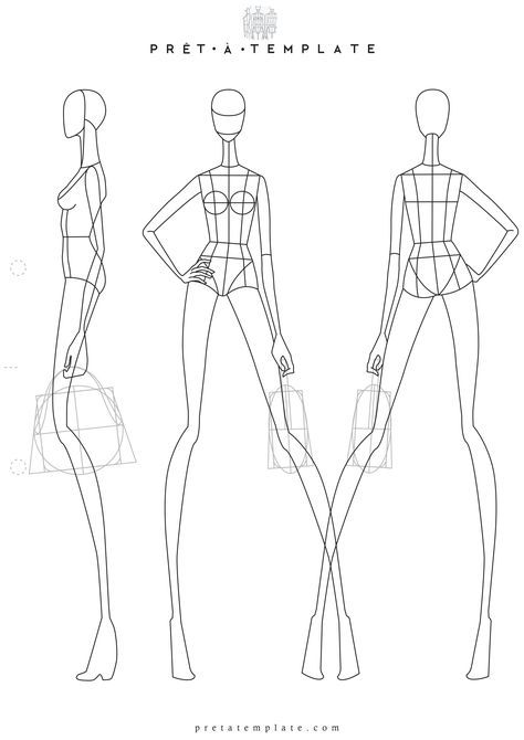 Fashion Template. fashion template of women in different