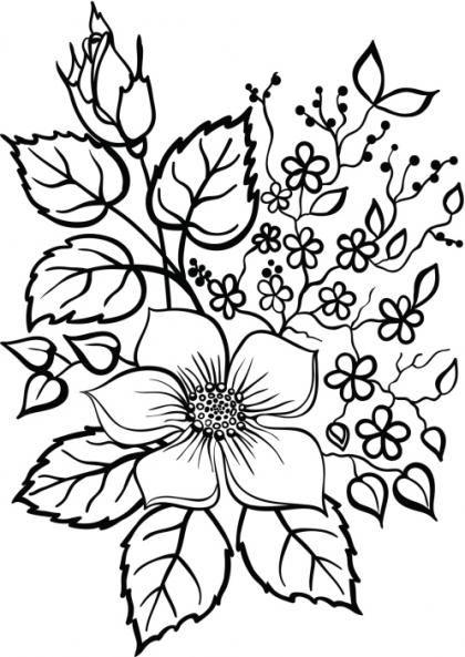 Dibujos De Flores Para Imprimir Y Pintar Dibujos De Flores Flores Faciles De Dibujar Dibujos En Tela