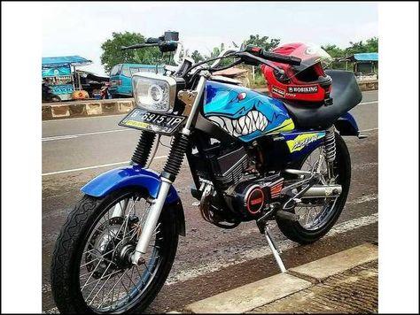 21 Konsep Modifikasi Motor Rx King Warna Biru Paling Keren